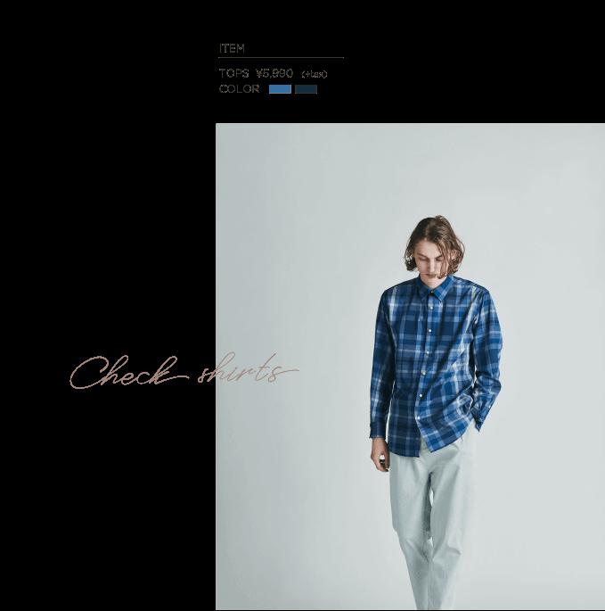 √M(ルートエム) チェックBIGシャツ
