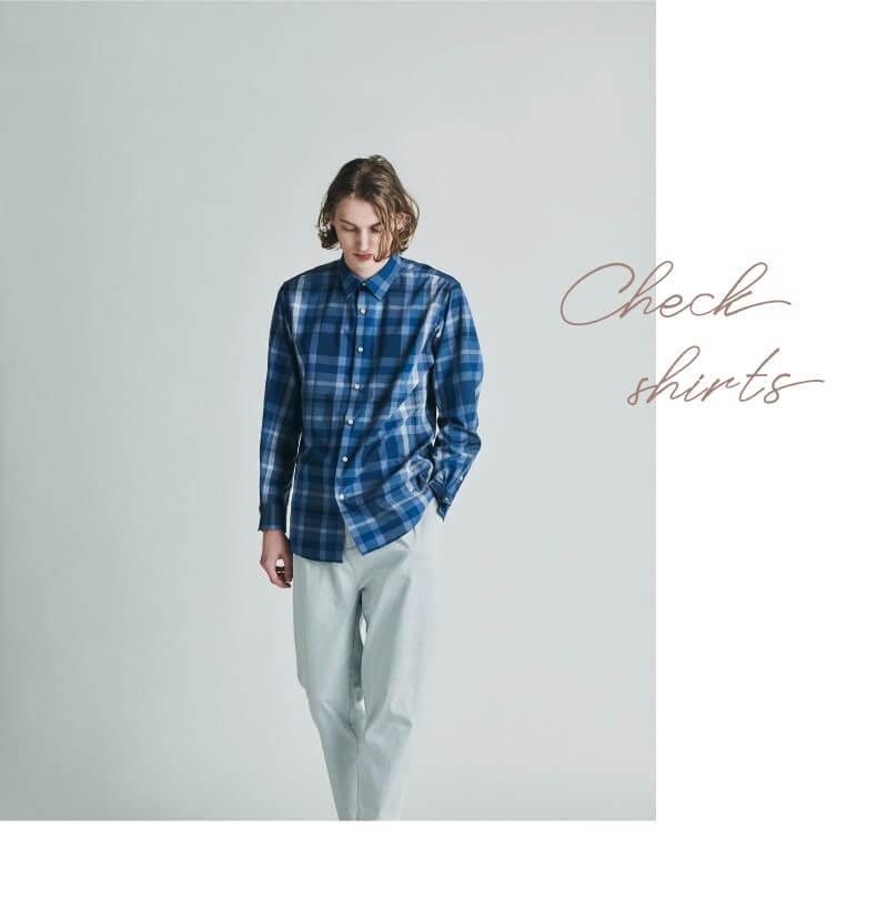 IKKA LOUNGE √M(ルートエム) チェックBIGシャツ