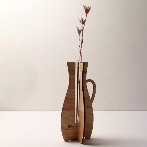 WOOD WORK LAB.組み立て花瓶(大)