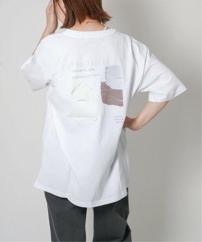 パレットバックプリントTシャツ