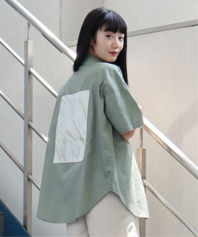 マーブルバックパッチ半袖シャツ