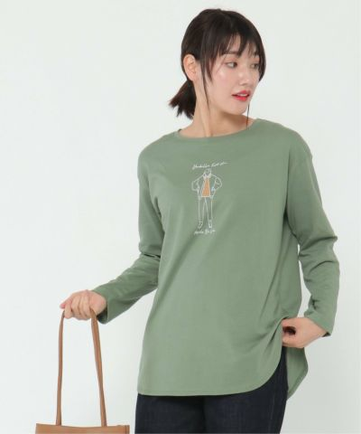 girlプリントロンtee
