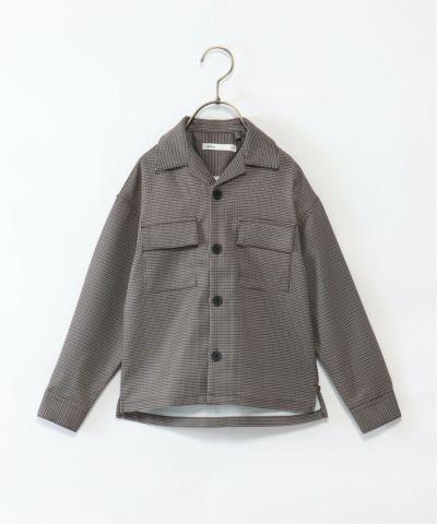 【キッズ】ガングラブチェックシャツジャケット(120~160cm)